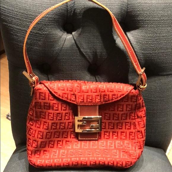 23159a1abf Fendi Handbags - NWOT Red Zucca Fendi